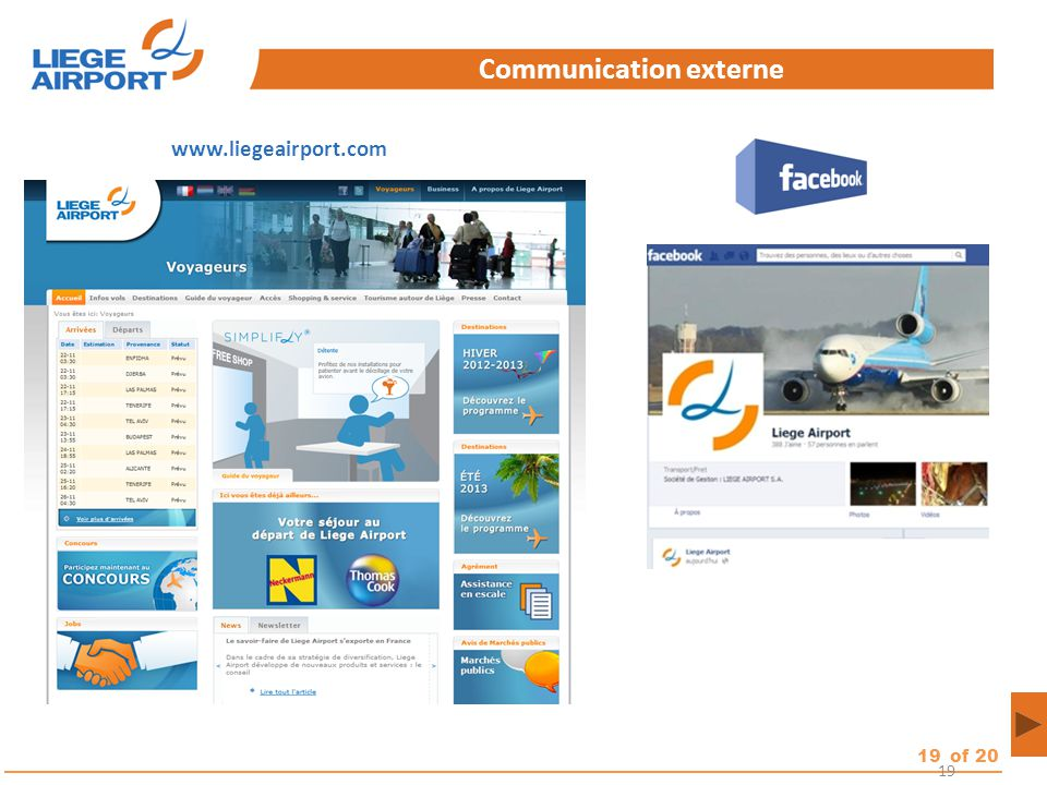 19of 20 19 Communication externe www.liegeairport.com