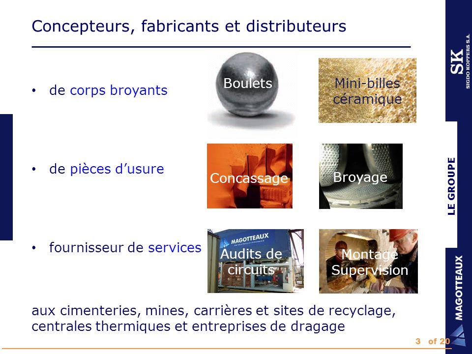Organisation : Niveau Groupe LE GROUPE 4 départements : Manufacturing Sales & marketing Finance Innovation Center 4of 20