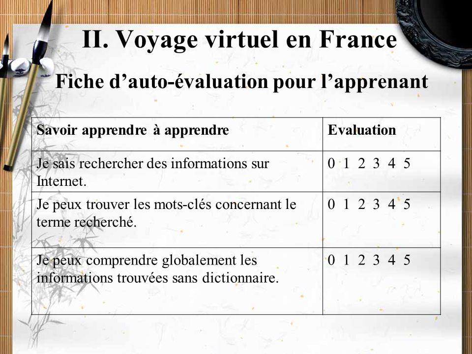 20/11/2009Montoneri & Tsai13 L'auto apprentissage (carnet de voyage) SujetsFait Pas encore fait (pourquoi ?) 1. Je connais la géographie de la France.