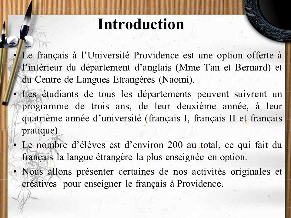 20/11/2009Montoneri & Tsai3 Introduction I. Cours thématiques II.