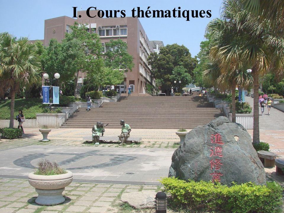 20/11/2009Montoneri & Tsai4 Le français à l'Université Providence est une option offerte à l'intérieur du département d'anglais (Mme Tan et Bernard) et du Centre de Langues Etrangères (Naomi).