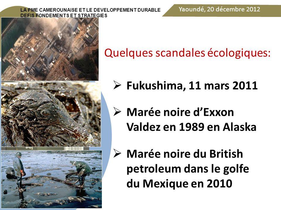 Yaoundé, 20 décembre 2012 DEDICACE LA PME CAMEROUNAISE ET LE DEVELOPPEMENT DURABLE DEFIS FONDEMENTS ET STRATEGIES Rupture écologique au point où la planète terre se trouve, aujourd'hui, de plus en plus menacée dans son existence même.
