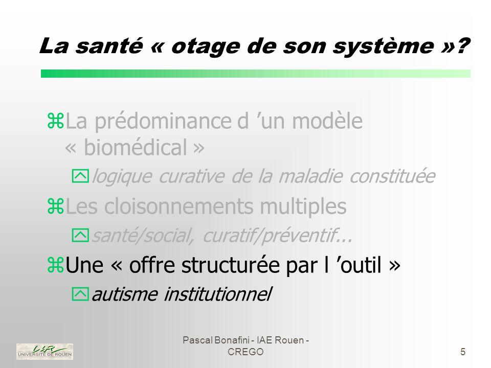 Pascal Bonafini - IAE Rouen - CREGO5 La santé « otage de son système ».