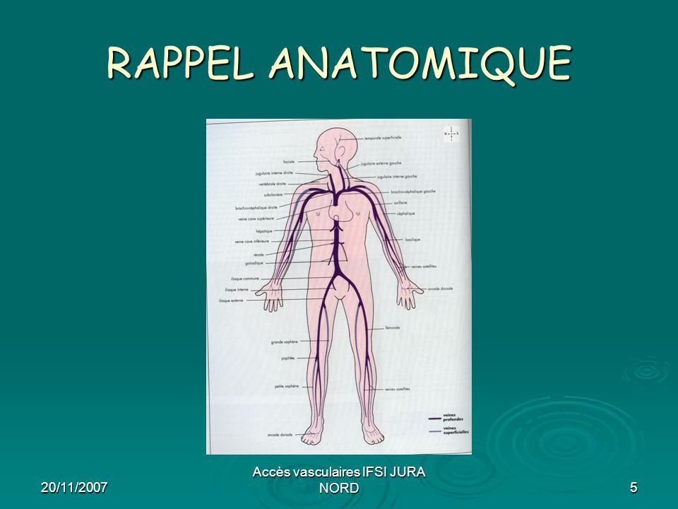 20/11/2007 Accès vasculaires IFSI JURA NORD16 VEINE FEMORALE (2)