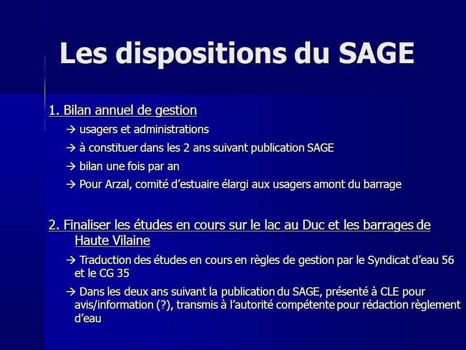 Les dispositions du SAGE 3.