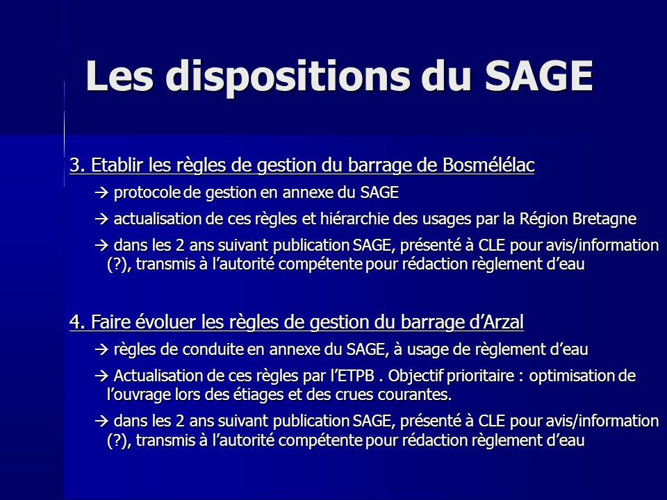 Les dispositions du SAGE 5.