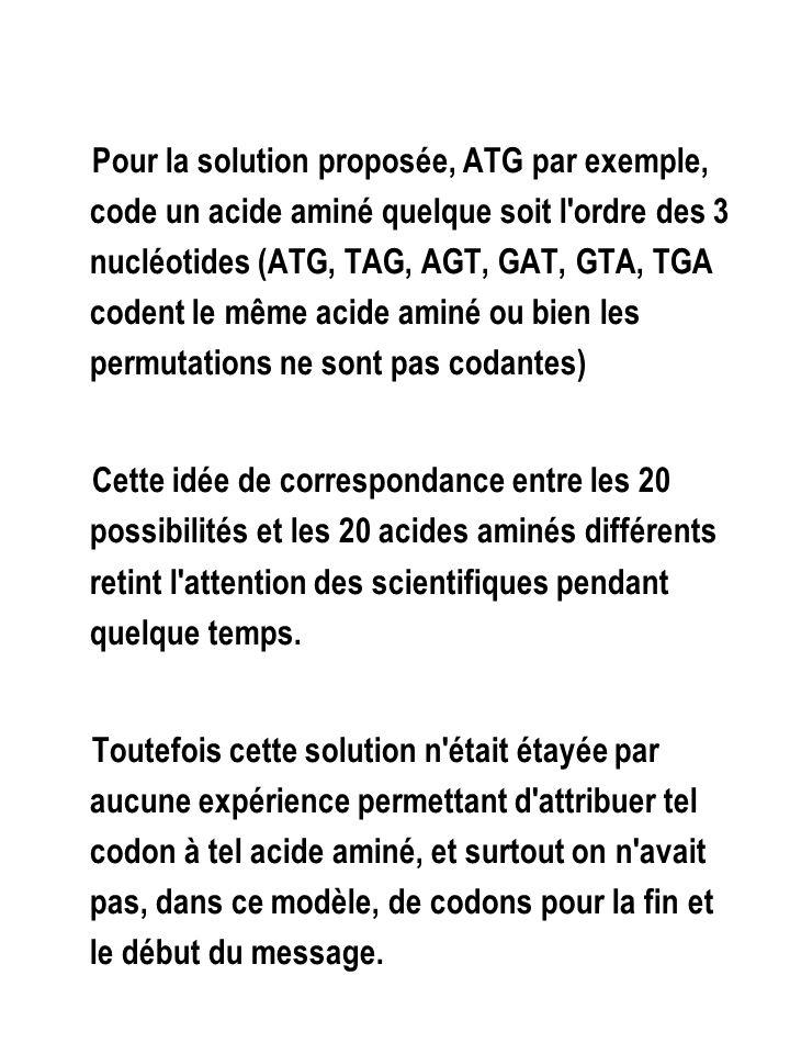 GG C ALA G G C Ala – tRNA cys G G C réduction U G U