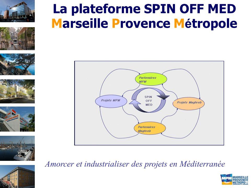 20 La plateforme SPIN OFF MED Marseille Provence M é tropole Amorcer et industrialiser des projets en Méditerranée