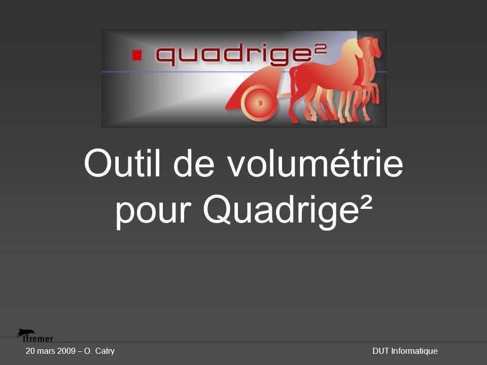 Outil de volumétrie pour Quadrige² 20 mars 2009 – O. CatryDUT Informatique
