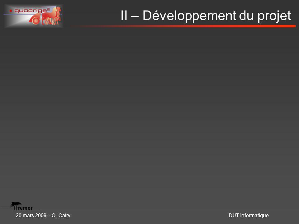20 mars 2009 – O. CatryDUT Informatique II – Développement du projet