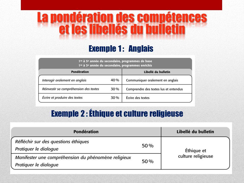 Ces documents disciplinaires présentent: la constitution du résultat disciplinaire; les libellés des compétences; les dimensions à prendre en compte a