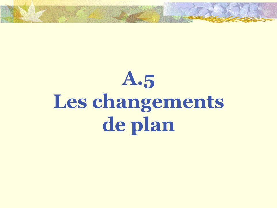 A.5 Les changements de plan