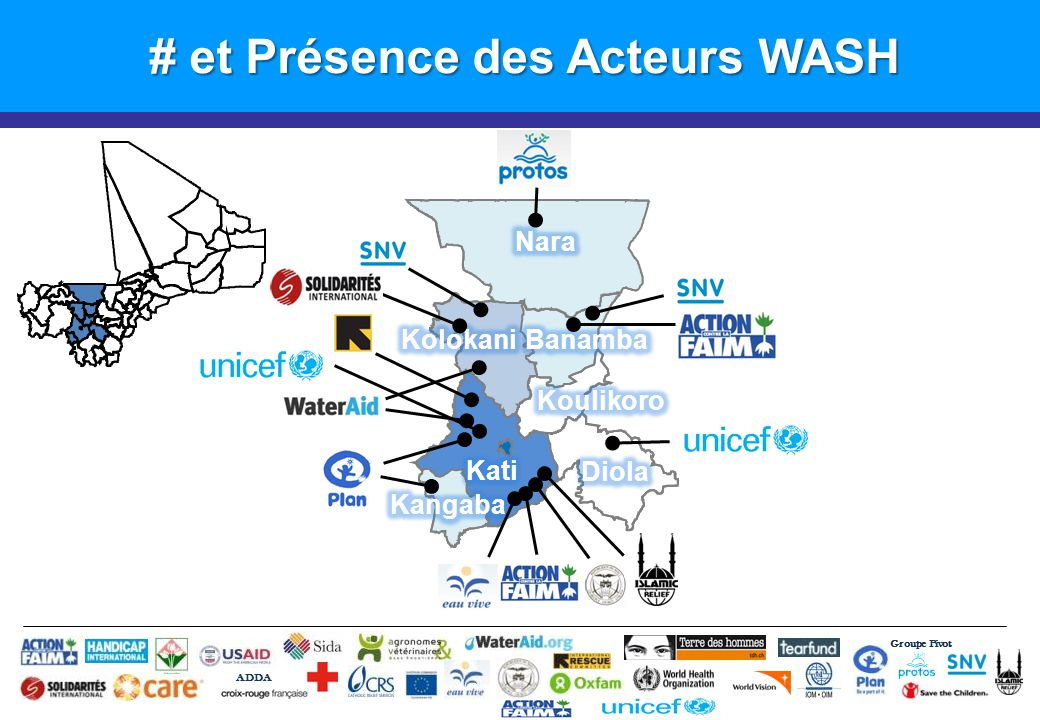 Groupe Pivot ADDA # et Présence des Acteurs WASH