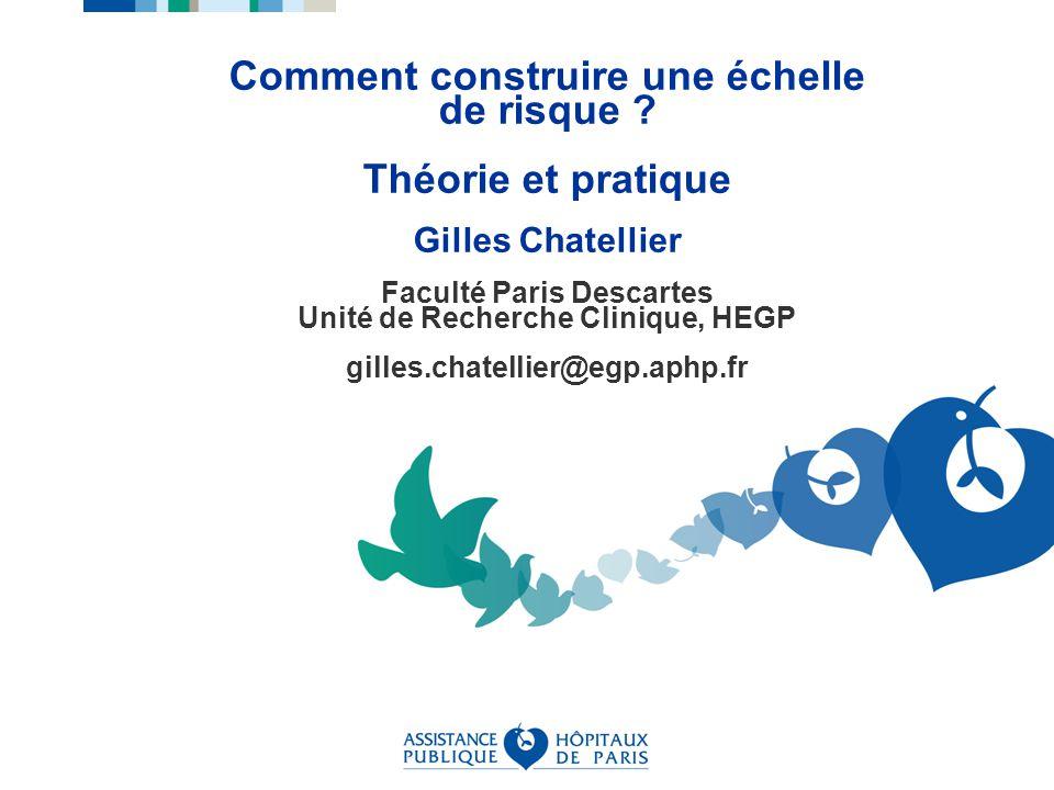 URC HEGP, 2009, G Chatellier Calibration Dans quelle mesure le risque prédit est-il proche du risque réel (virtuel) .