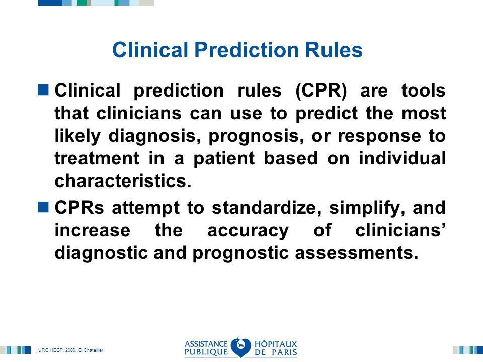 URC HEGP, 2009, G Chatellier Guide de lecture du groupe EBM : CPR JAMA, 2000