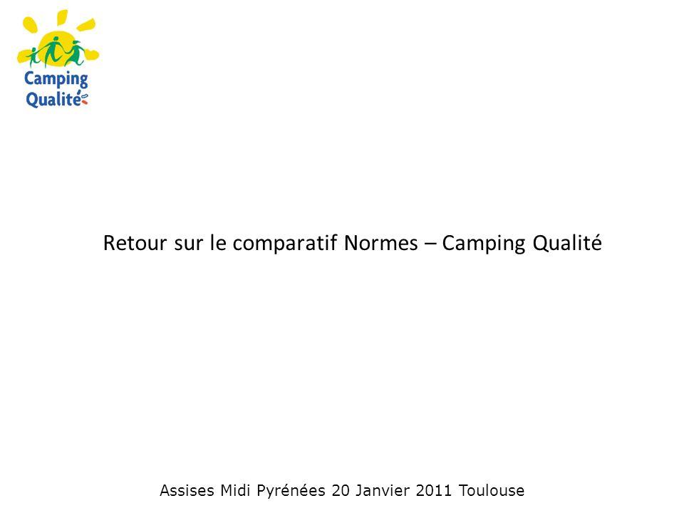 Retour sur le comparatif Normes – Camping Qualité Assises Midi Pyrénées 20 Janvier 2011 Toulouse