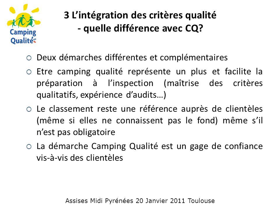3 L'intégration des critères qualité - quelle différence avec CQ.