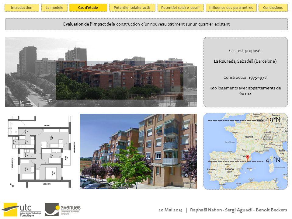 20 Mai 2014 | Raphaël Nahon - Sergi Aguacil - Benoit Beckers Etat actuel Model de calcul 3D proposé | sur les toits Scenario 1Scenario 2Scenario 3 Scenario 4 Projet de deux nouveaux bâtiments de 5 étages.