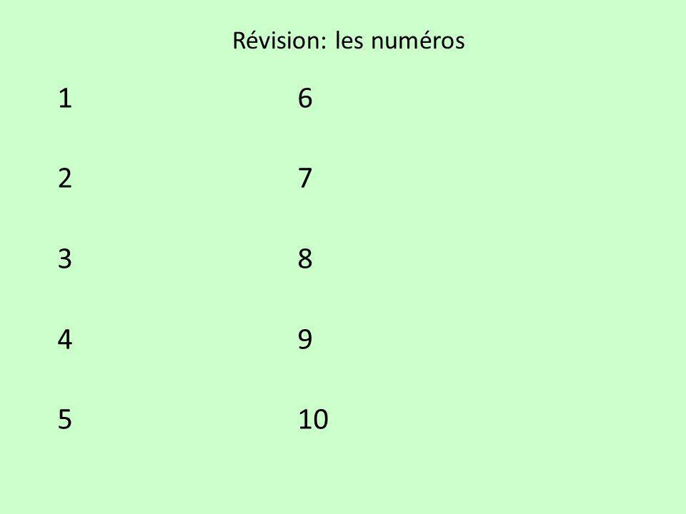 Révision: les numéros 16 27 38 49 510