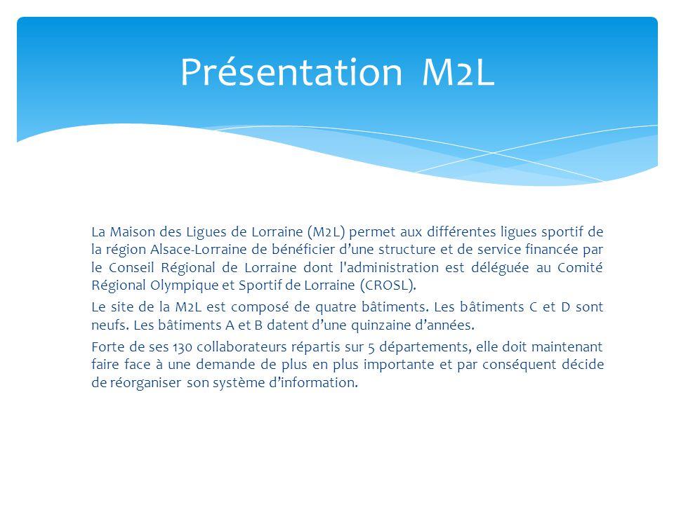 La Maison des Ligues de Lorraine (M2L) permet aux différentes ligues sportif de la région Alsace-Lorraine de bénéficier d'une structure et de service financée par le Conseil Régional de Lorraine dont l administration est déléguée au Comité Régional Olympique et Sportif de Lorraine (CROSL).
