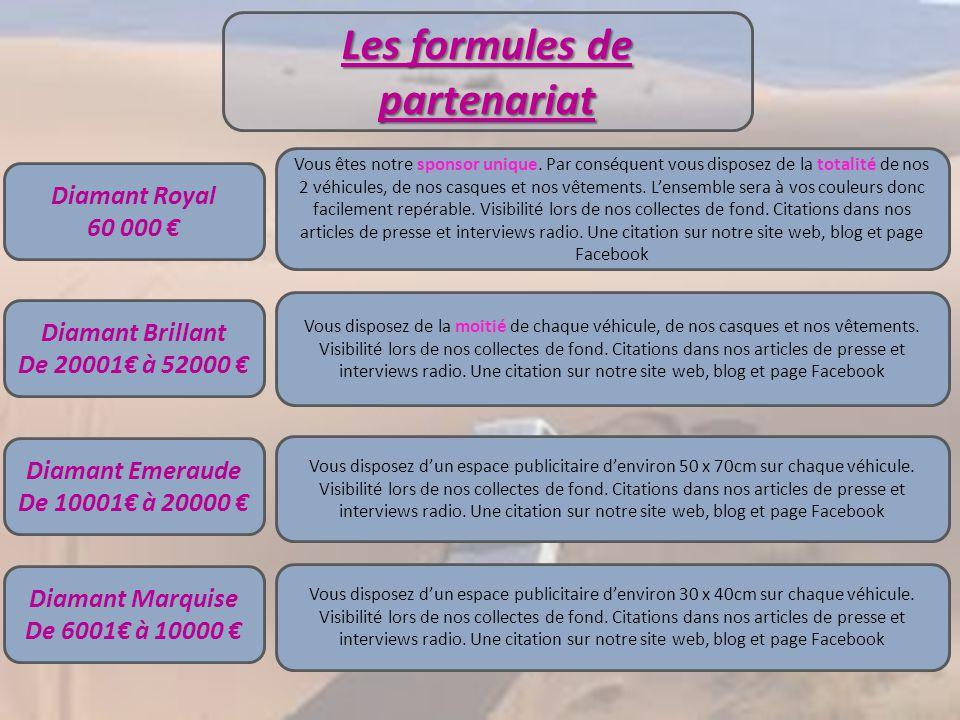Vos avantages….. Sponsoring déductible de vos impôts : En France, les sommes versées par nos partenaires sont considérées comme des dépenses destinées