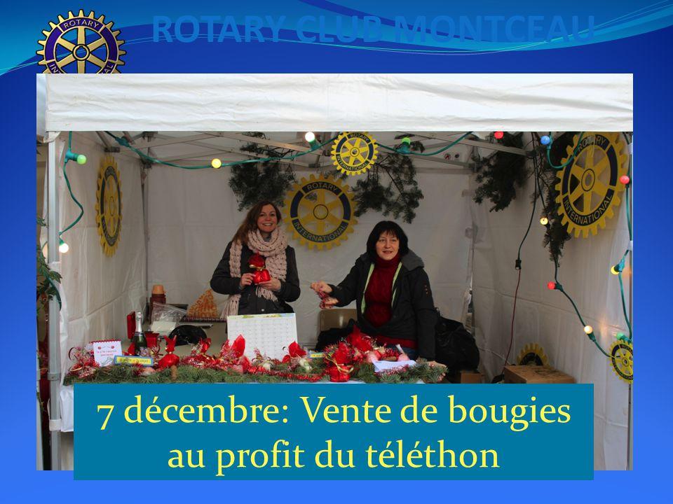ROTARY CLUB MONTCEAU 7 décembre: Vente de bougies au profit du téléthon