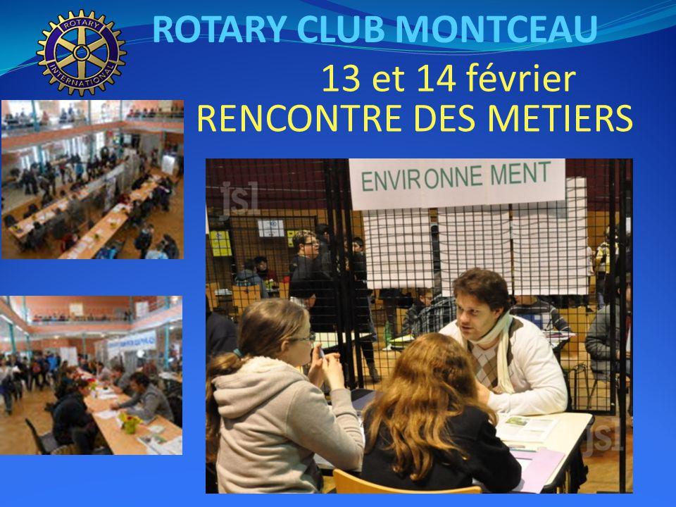 ROTARY CLUB MONTCEAU 9 février 2014 Loto au profit des Restos du Coeur
