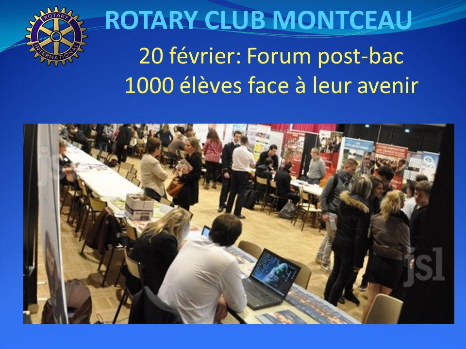 ROTARY CLUB MONTCEAU 20 février: Forum post-bac 1000 élèves face à leur avenir