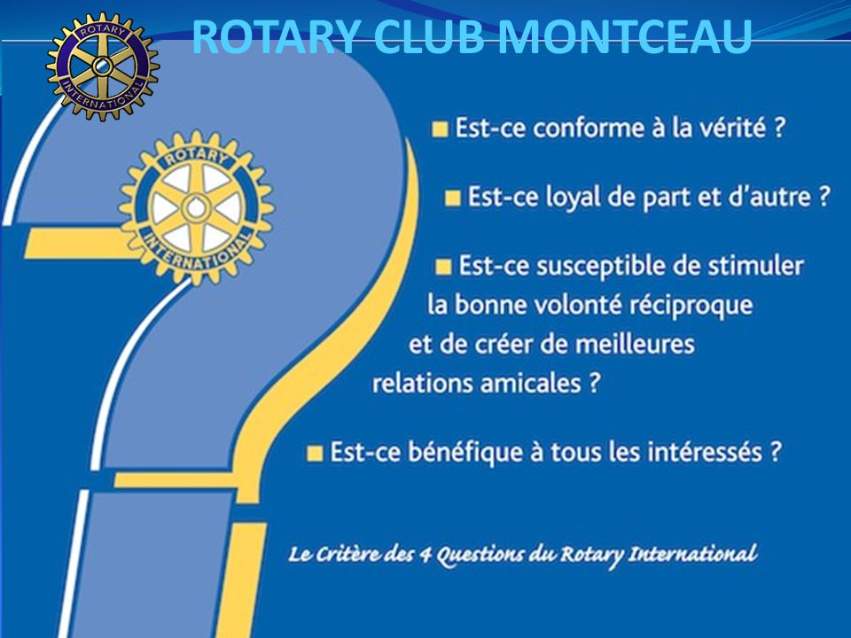 ROTARY CLUB MONTCEAU