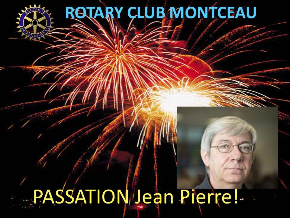ROTARY CLUB MONTCEAU PASSATION Jean Pierre!