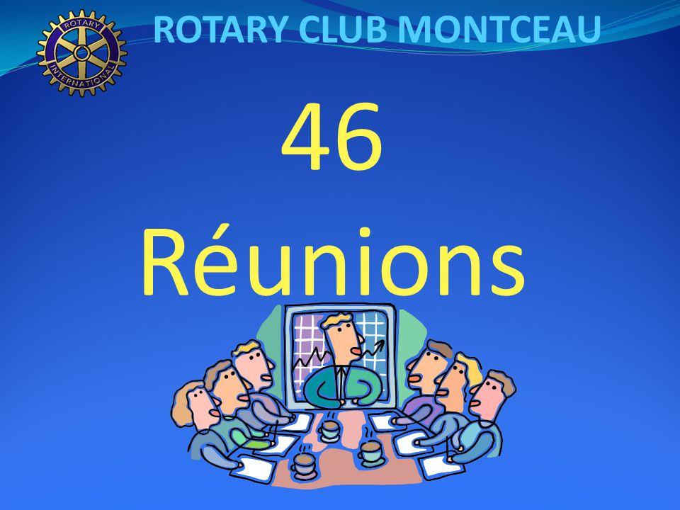 ROTARY CLUB MONTCEAU Un club qui compte 30 membres actifs 5 rotariennes 25 rotariens