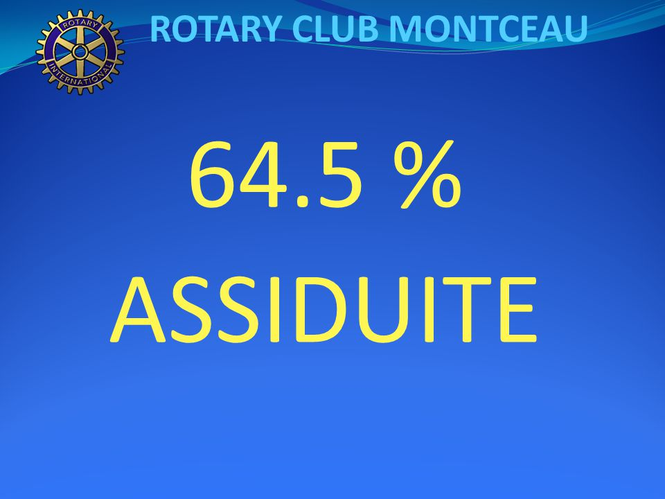 ROTARY CLUB MONTCEAU 64.5 % ASSIDUITE