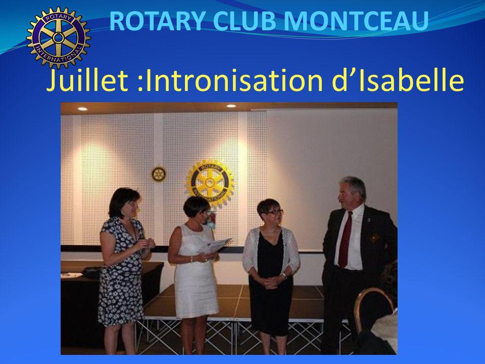 ROTARY CLUB MONTCEAU Juillet :Intronisation d'Isabelle