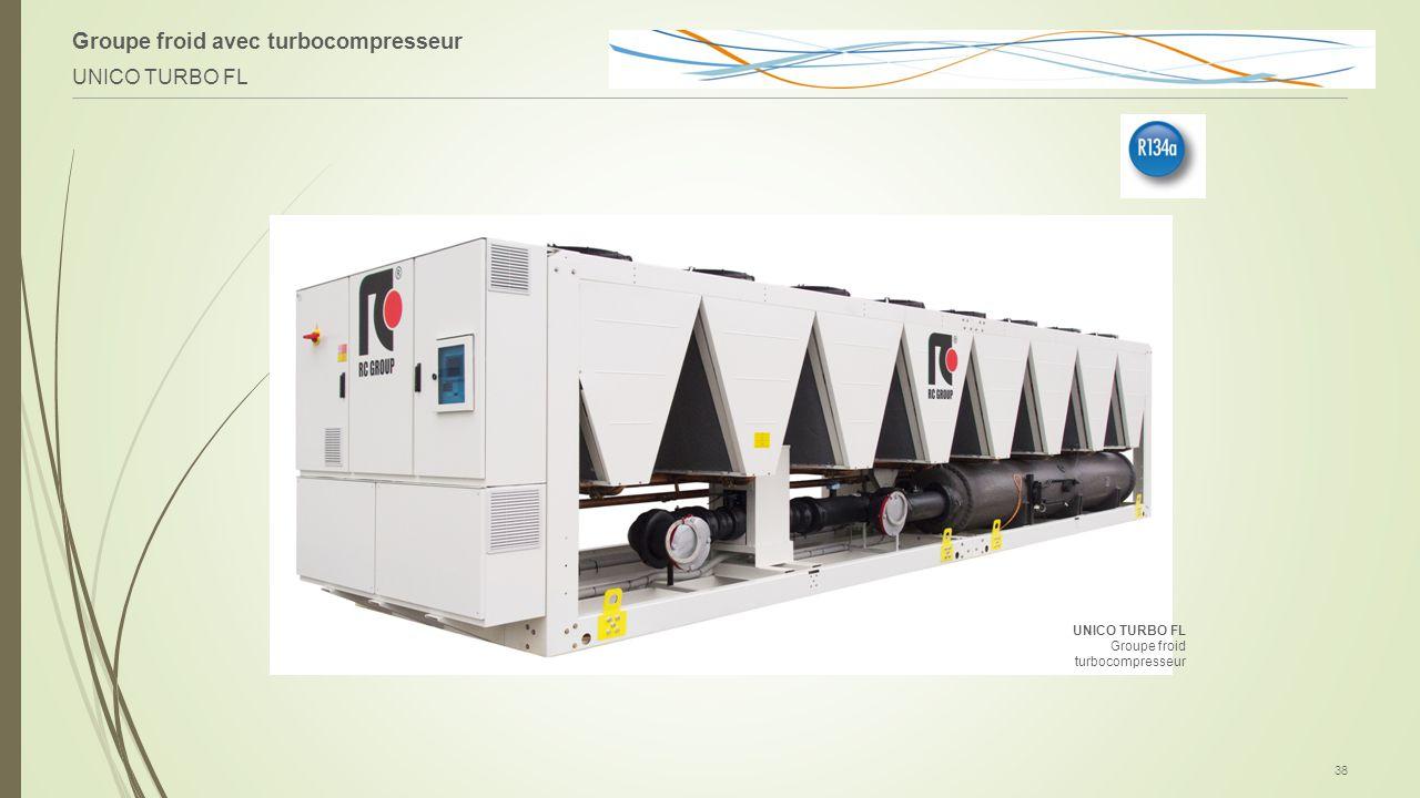 Groupe froid avec turbocompresseur UNICO TURBO FL 38 UNICO TURBO FL Groupe froid turbocompresseur