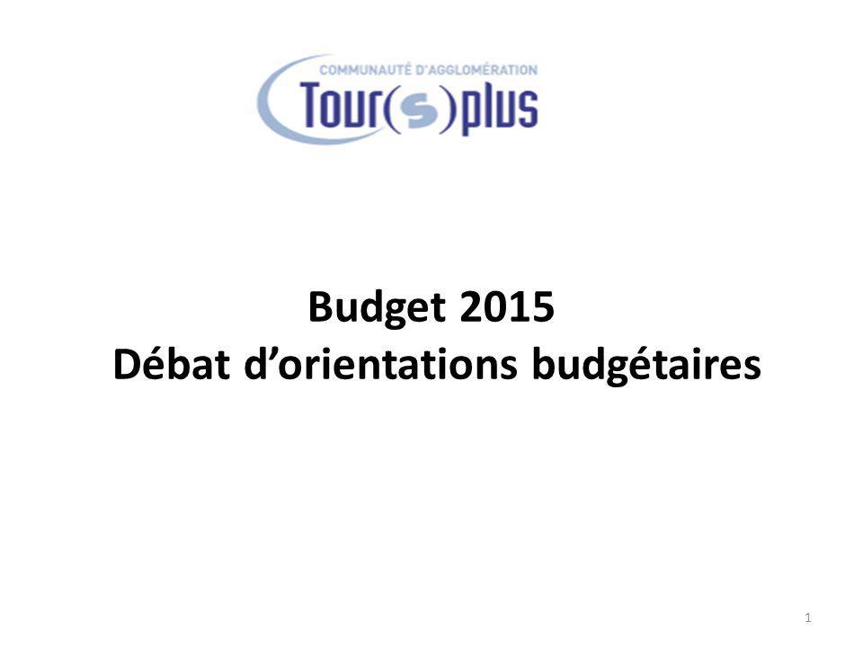Budget 2015 Débat d'orientations budgétaires 1