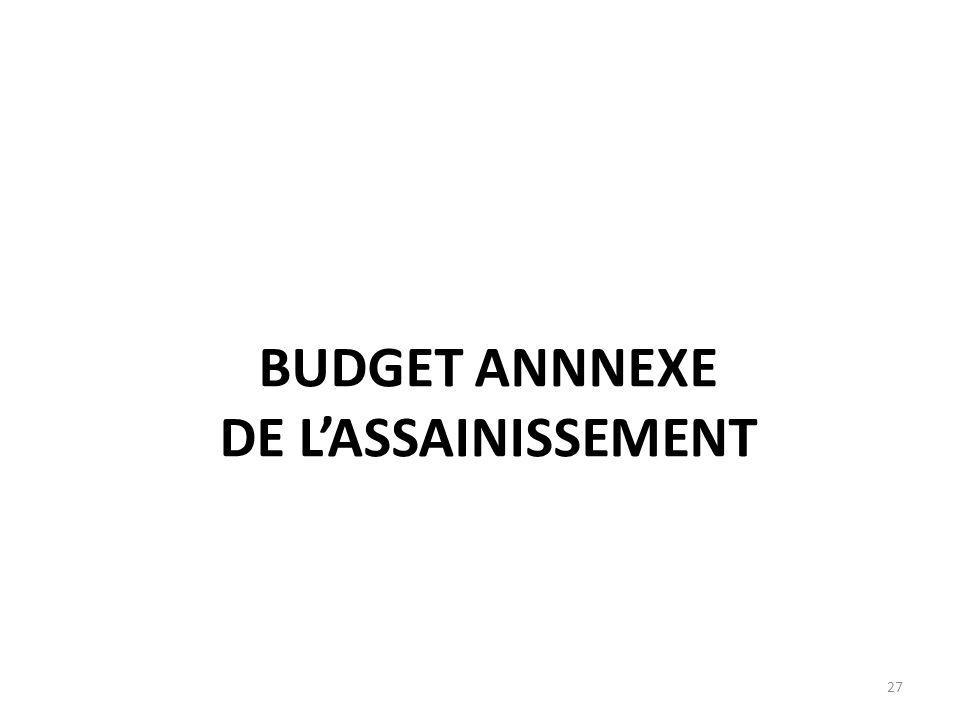 BUDGET ANNNEXE DE L'ASSAINISSEMENT 27