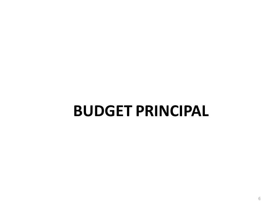 BUDGET PRINCIPAL 6