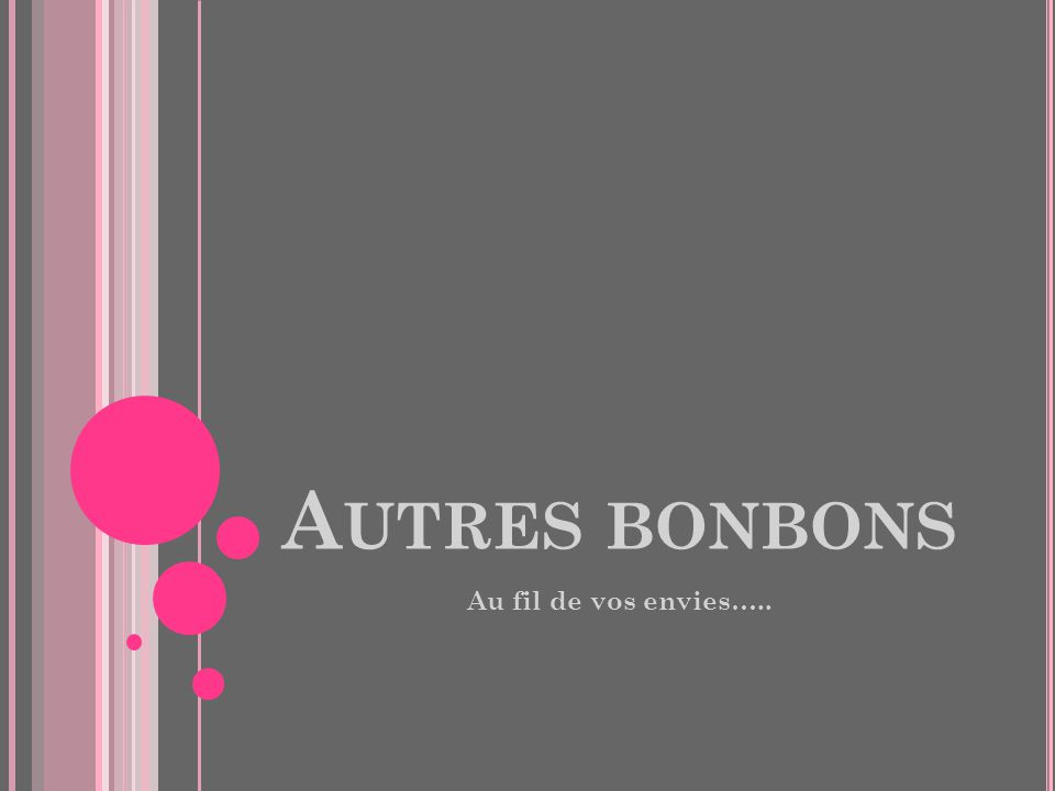 A UTRES BONBONS Au fil de vos envies…..