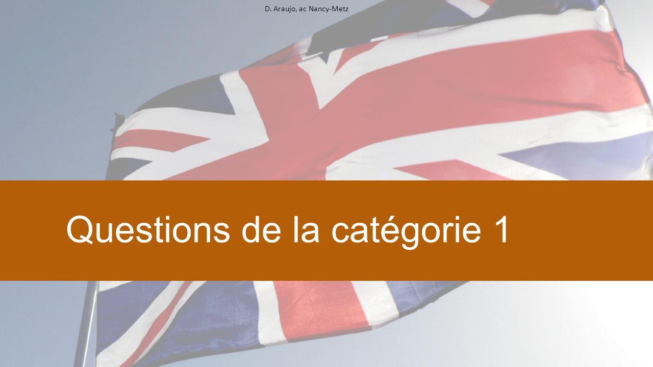 D. Araujo, ac Nancy-Metz Questions de la catégorie 1
