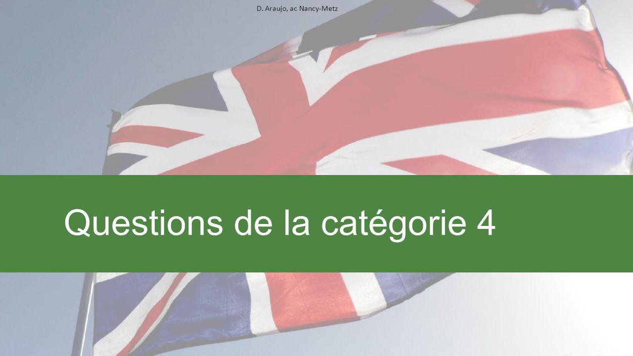 D. Araujo, ac Nancy-Metz Questions de la catégorie 4