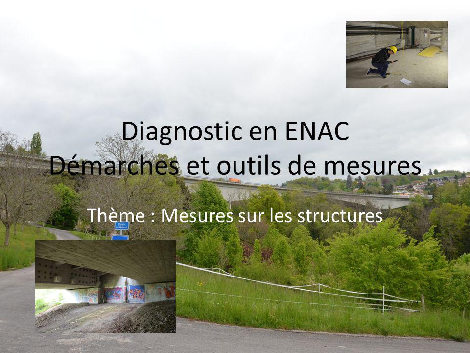 Diagnostic en ENAC Démarches et outils de mesures Thème : Mesures sur les structures