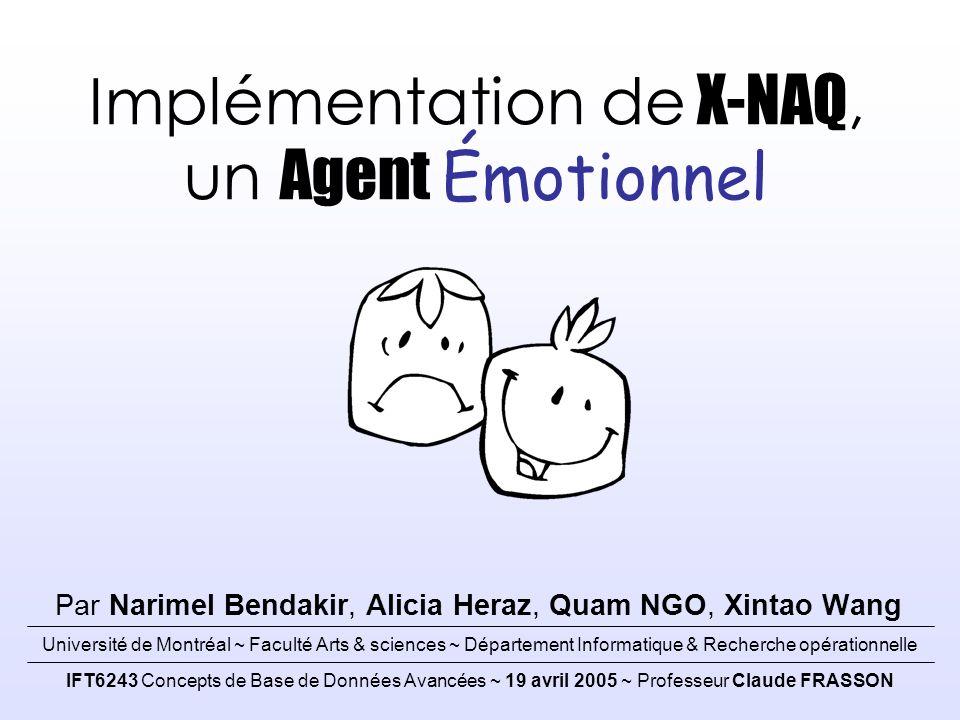 Architecture d'un Agent Émotionnel Page 12 / 20 Implémentation Q Détection de l état émotionnel initial 2/4