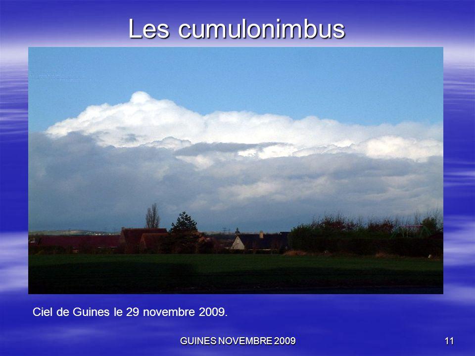 GUINES NOVEMBRE 200911 Les cumulonimbus Ciel de Guines le 29 novembre 2009.