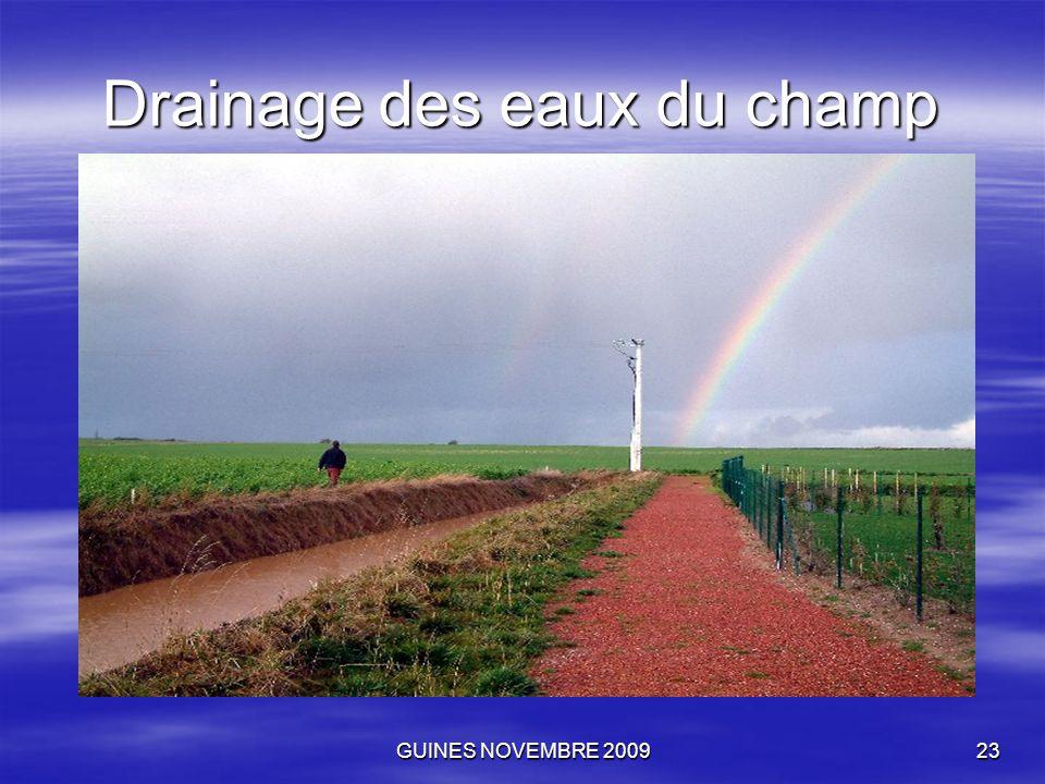 GUINES NOVEMBRE 200923 Drainage des eaux du champ