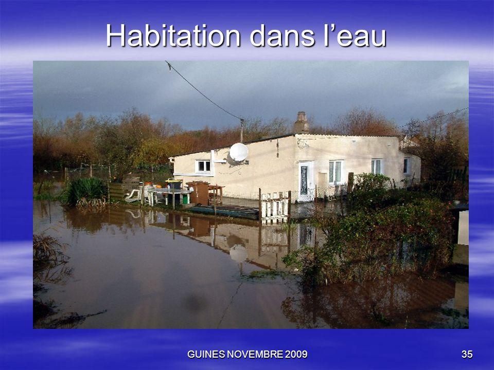 GUINES NOVEMBRE 200935 Habitation dans l'eau