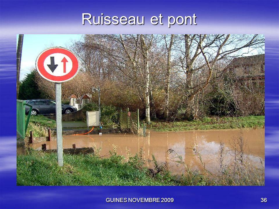 GUINES NOVEMBRE 200936 Ruisseau et pont