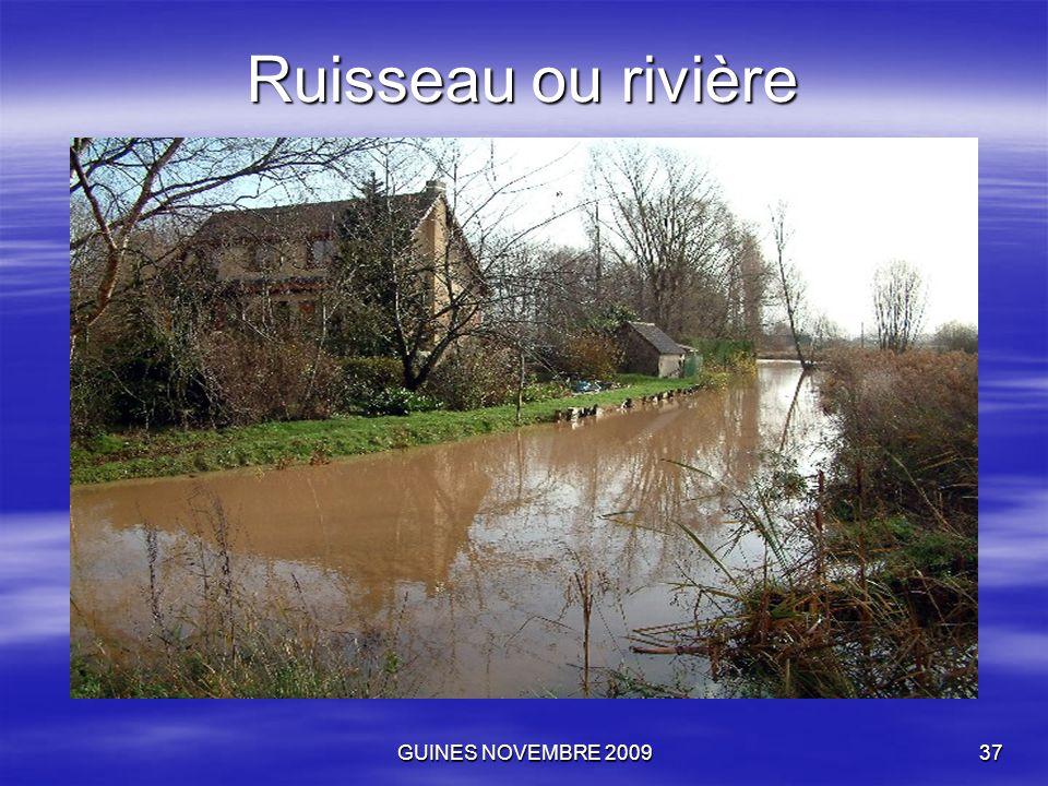 GUINES NOVEMBRE 200937 Ruisseau ou rivière