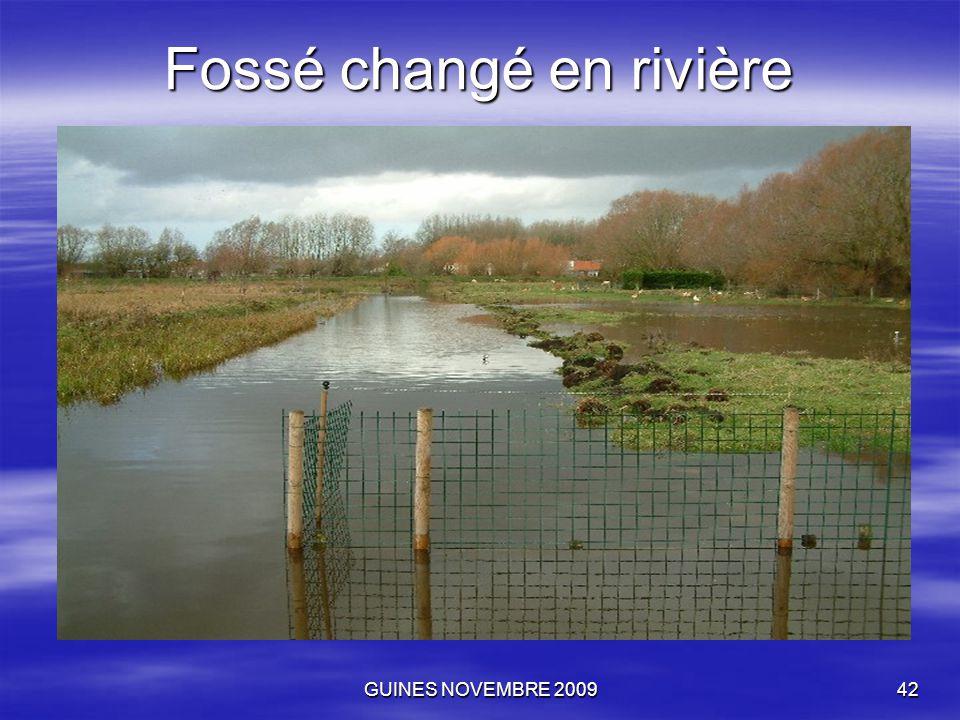 GUINES NOVEMBRE 200942 Fossé changé en rivière
