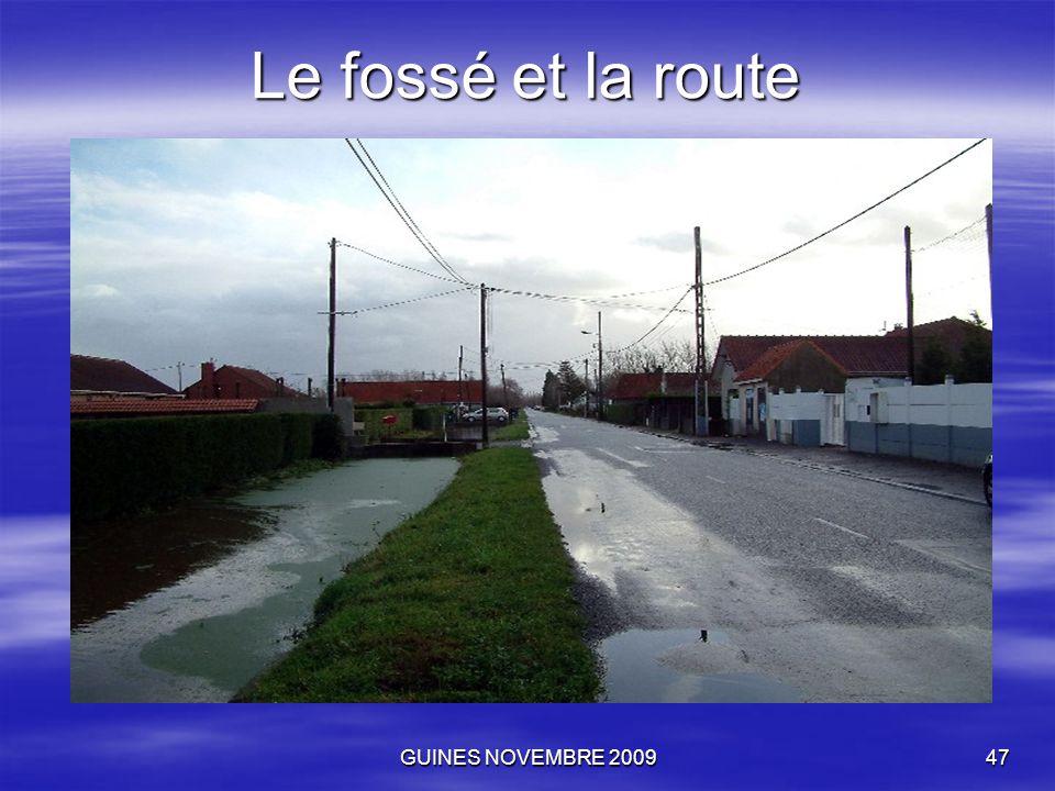 GUINES NOVEMBRE 200947 Le fossé et la route