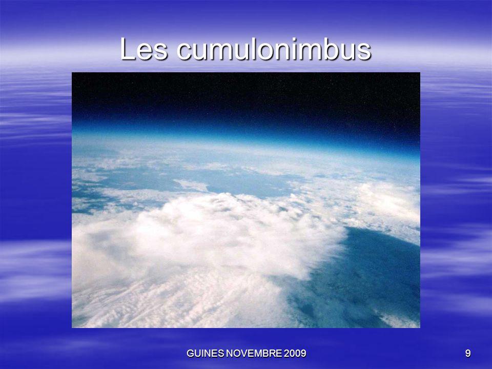 GUINES NOVEMBRE 200910 Les cumulonimbus